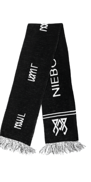SCARF NNJL BLACK/WHITE