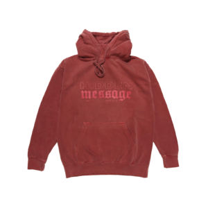 HIDDEN MESSAGE HOODIE WASHED CRIMSON